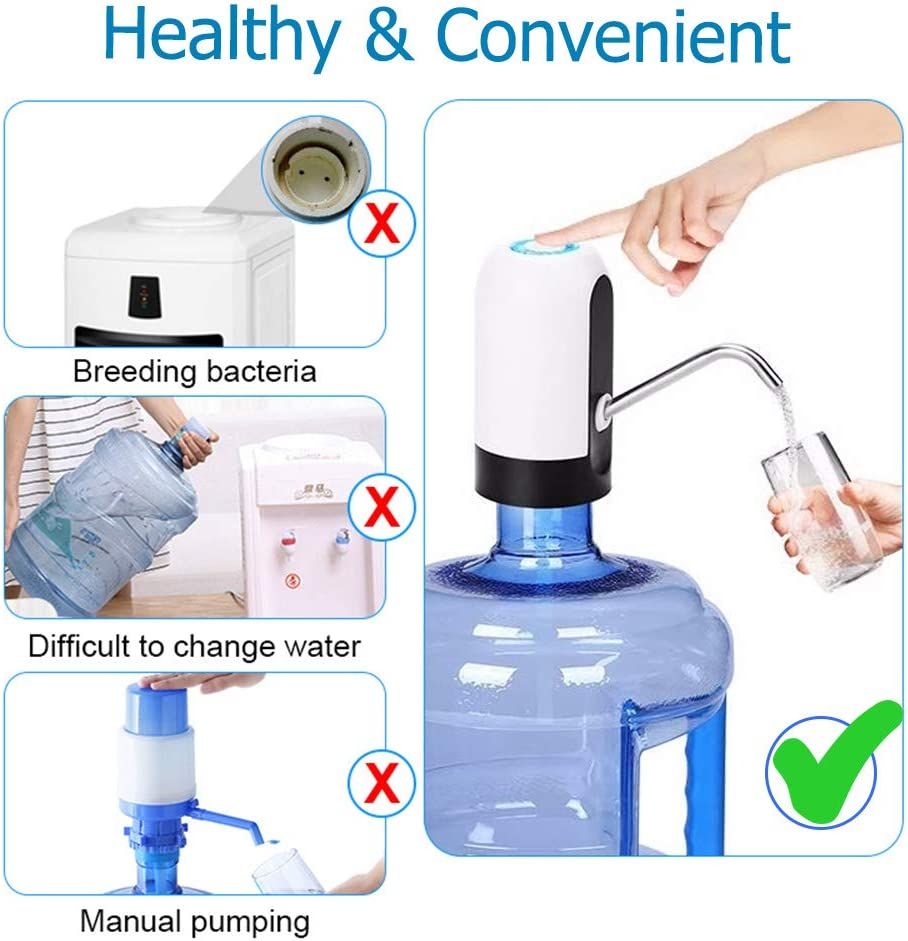 USB Charging Automatic Drinking Water Pump Water Bottle Switch ...