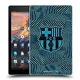 Official FC Barcelona Black Crest Soft Gel Case Compatible for Amazon Fire HD 10 (2017)