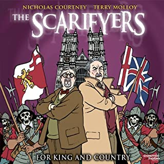 The Scarifyers: For King and Country                   By:                                                                                                                                 Simon Barnard,                                                                                        Paul Morris                               Narrated by:                                                                                                                                 Nicholas Courtney,                                                                                        Terry Molloy,                                                                                        Gabriel Woolf                      Length: 1 hr and 43 mins     60 ratings     Overall 4.6
