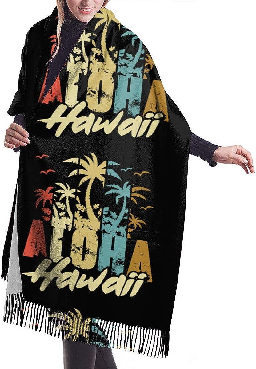 Aloha Vintage Hawaiian Island Winter Scarf Cashmere Scarves Stylish Shawl Wraps Blanket