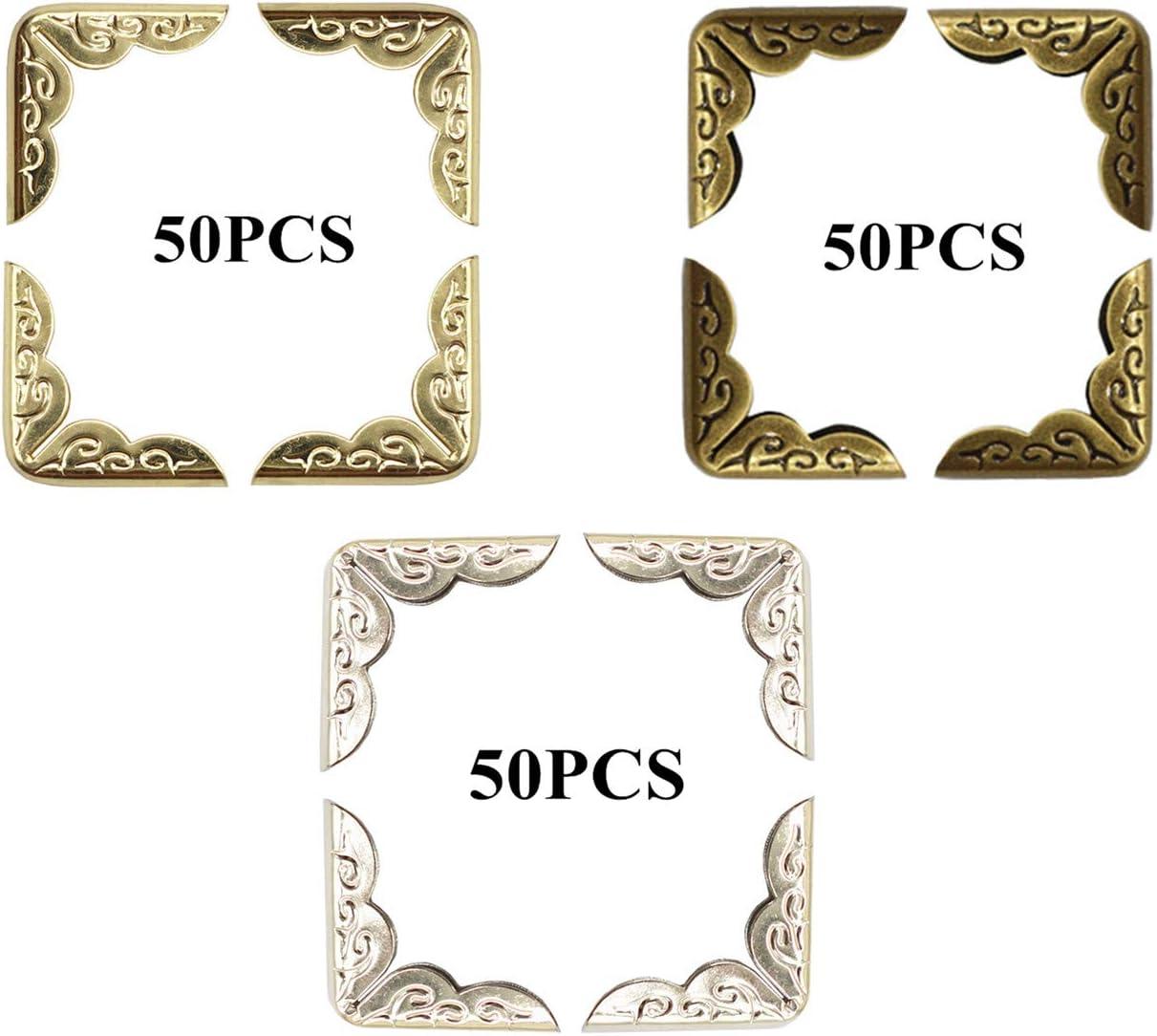 PHAETON 150PCS Metal Book Corner Photo Protector Selling rankings Super special price Album Scrapbook