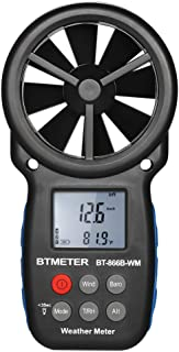Festnight BTMETER Digital Anemometer Handheld Wind Speed Meter Weather Meter Chill Indicator/Wind Speed/Temperature/Humidity/Dew Point/Barometric Pressure/Altitude Meter