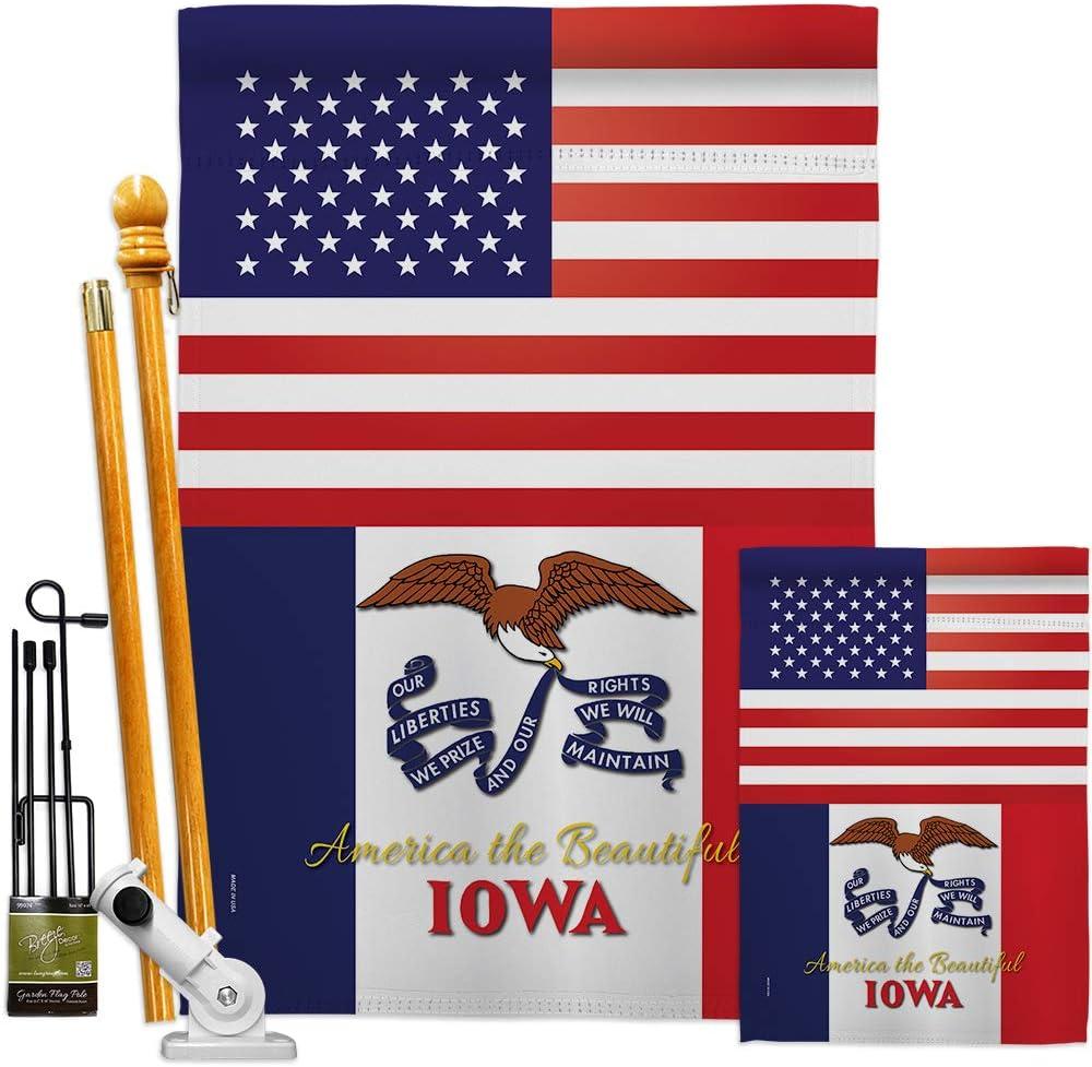 States Cheap sale US Iowa Garden House Flags American Now free shipping USA Kit Regional Terr