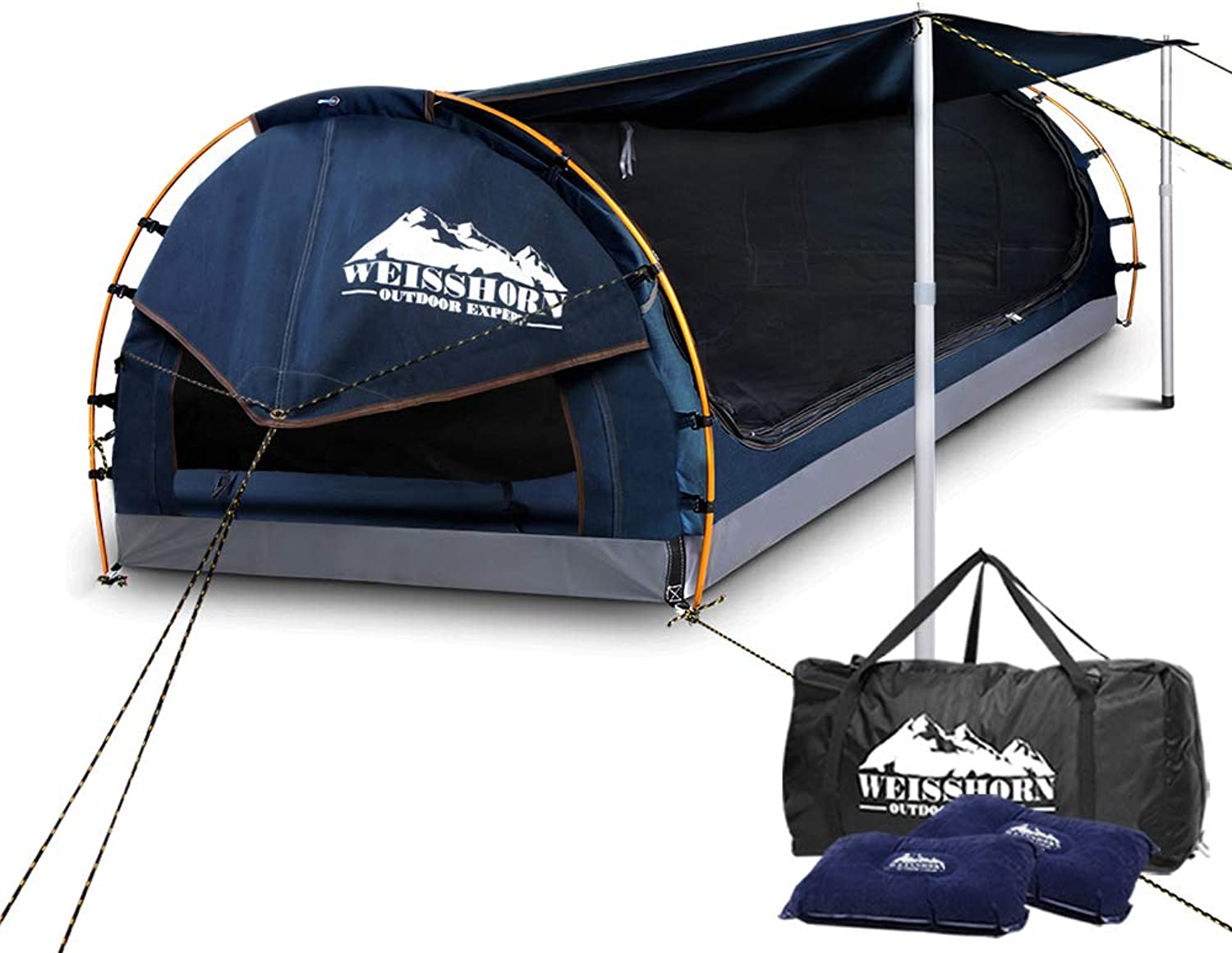 Weisshorn Double Swag Camping Swag Canvas Tent  Dark blueee