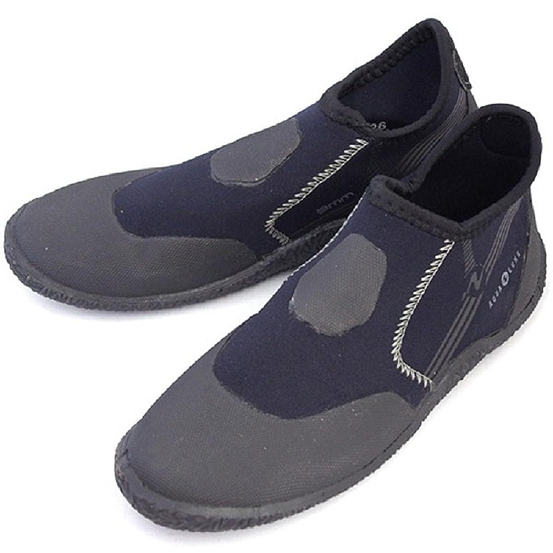 シンプルな接地冷蔵するAQUALUNG(アクアラング) マリンシューズ 3mm ショート(ポリネシアン) ブーツ (22cm)