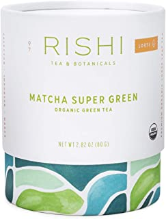 Rishi Tea Matcha Super Green Loose Leaf Herbal Tea | Immune Support, USDA Certified Organic Sencha, Caffeinated, Umami, An...
