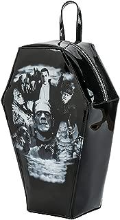 Universal Monsters Collage Coffin Backpack Handbag Purse Dracula Frankenstein Bag