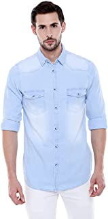 dc54cc9894 Denim Men's Shirts: Buy Denim Men's Shirts online at best prices in ...