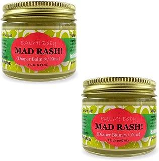 BALM! Baby MAD Rash Natural Diaper Balm Skin Aid with ZINC (2oz/60mL) Pack of 2
