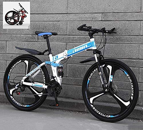 Bicicletas de montaña plegable de 24 pulgadas de velocidad variable 21/24/27/30 marco todo terreno rápida plegable montaña de adulto fuera del camino de la bicicleta doble de acero al carbono de alta