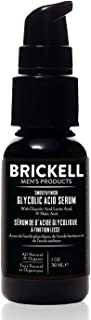 Brickell Men's Smooth Finish Glycolic Acid Serum For Men, Natural and Organic, Anti Aging Serum To Reduce Fine Lines and W...