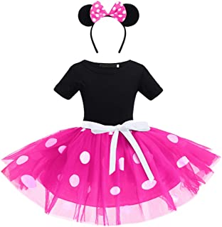 OBEEII Mouse Costume Baby Toddler Girl Tutu Dress Princess Dress Up Birthday Halloween