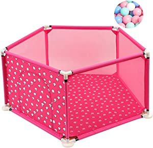 Children s Park Fence Baby Safety Activity Center Playroom Center Playground Crawling Step Breathable Oxford Cloth Portable sturdy pack 200 balls  138cm 66cm