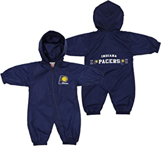 Mighty Mac Indiana Pacers NBA Baby Boys Infants Newborn Hooded Wind Coveralls, Color Options
