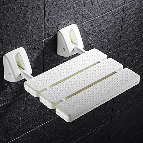 Cutogain Faltwand Dusche Sitz Wand montiert Relax Dusche Stuhl Sitz Spa Bank massiv Badezimmer Supplies weiß