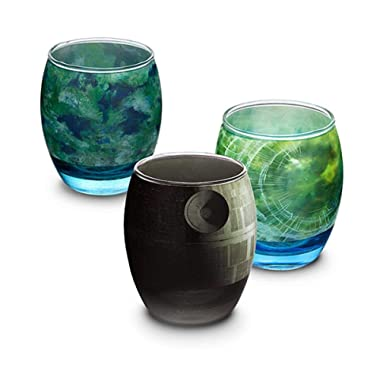 Star Wars Planetarium Glassware 6pc Kitchenware Death Star, Endor, Alderaan, Dagobah, Hoth, and Tatooine