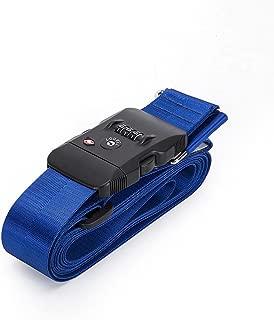 BlueCosto TSA Approved Luggage Strap Suitcase Travel Cross Belt Adjustable - Blue