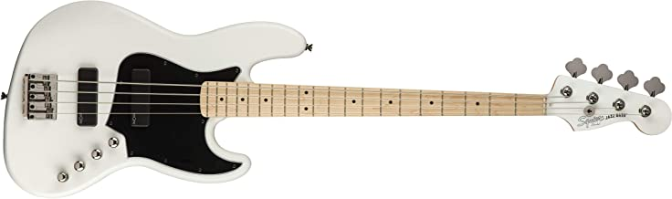 Squier by Fender Contemporary Active Jazz Bass HH, Maple Fingerboard, Flat White