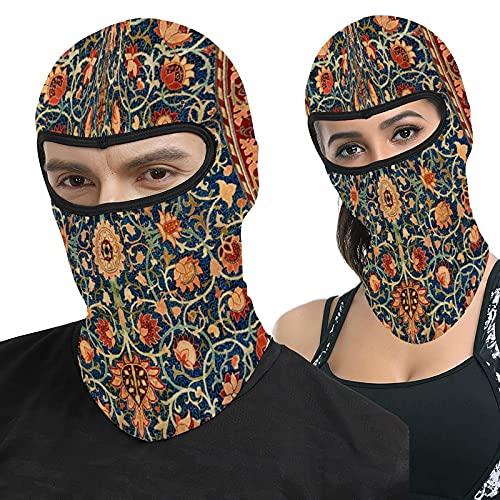 Morris Holland Park Vintage Teppich Design Vollgesichtshaube Ma-Sk Kopfbedeckung Atmungsaktiv Sturmhaube für Outdoor Sport Jagd Radfahren Motorradfahren Herren Damen