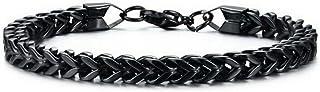 NW 1776 Men'S And Women'S Anniversary Birthday Bracelet, Steel Titanium 21cm Long, 0.6mm Wide Chain Buckle Bracelet Is Not...
