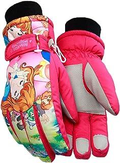 iEay Gants chauds pour petite fille 6-9 ans - Gants Anti-dérapant pour Fille et Garçon Ski Snowboard Randonnée et Cyclisme...