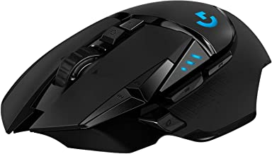 Logitech G502 LIGHTSPEED Wireless Gaming Mouse, HERO 16K Sensor, 16,000 DPI, RGB, Adjustable Weights, 11 Programmable Butt...