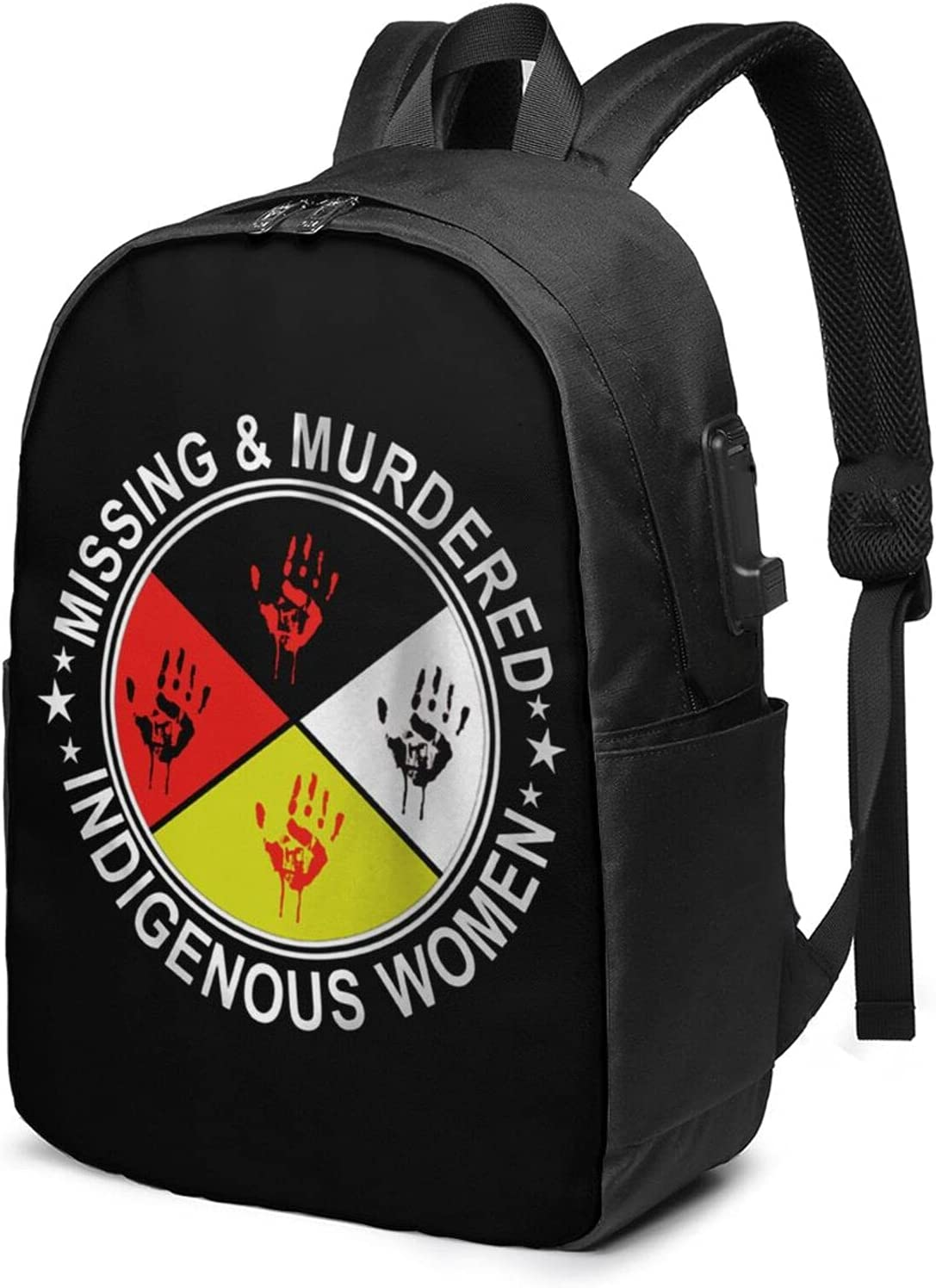 Missing Fees free!! Murdered Indigenous Women Laptop Usb Backpack With Charg discount