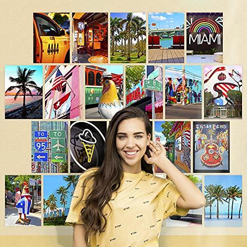 Finoly Fotos Láminas Decorativas Decoración Pared Pack 75 Unidades para Habitación Dormitorio Salón Estilos Aesthetic Tumblr (Miami)