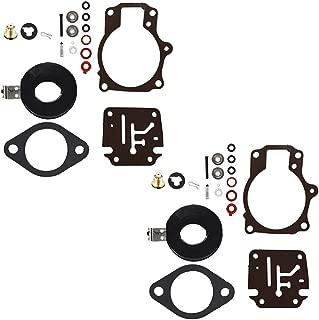 WFLNHB 2pcs Carburetor Rebuild Kit with Float fits for Many Johnson Evinrude 396701 18 20 25 28 30 35 40 45 48 50 55 60 65 70 75 HP Outboard Motors