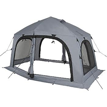 DOD(ディーオーディー) サブマリンテント デイキャンプ シェード 3-4人用 テント ワンタッチ構造 で 簡単 組み立て T4-609-GY