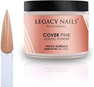 Legacy Nails Cover Acrylic Powder in Peach, Rose, Nude, White & Pink 120ml (Pink)