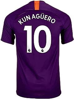 Official Manchester City 2018/19 3rd Jersey Kun Aguero 10 Adult Sizes