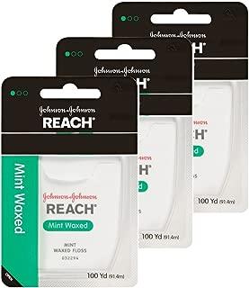 【まとめ買い】Johnson&Johnson REACH デンタルフロス9229 ミントワックス100ヤード×3個