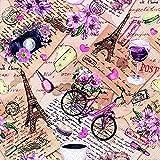 20 servilletas de París como decoración de Mesa para los Amantes de París y Francia, 33 x 33 cm