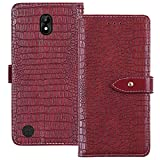 YLYT Shockproof - Red Flip Leather Luxury Cover With Stand