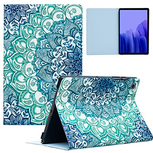 TeeFity Samsung Galaxy Tab A7 10.4 2020 Case, Samsung Tab A7 Case, Protective Stand Case with Auto Sleep/Wake for Galaxy Tab A7 10.4' 2020 Tablet (Model SM-T500/T505/T507), Mandala