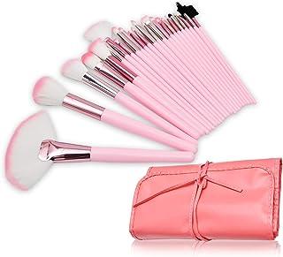 Makeup Brush Set, 24Pieces Professional Makeup Brushes Cosmetics Brushes Foundation Concealer Powder Face Eye Make up Brushes Kit with Carry PU Bag (pink)
