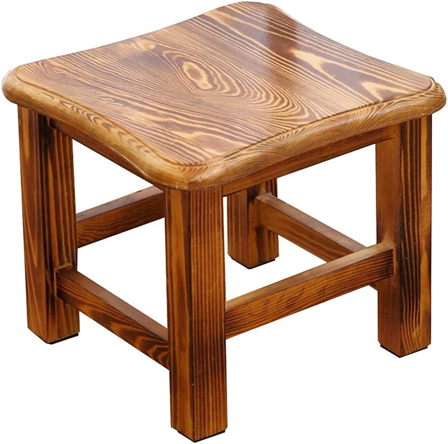 Stools Retro Wooden Stool Footstool Waterproof Living Room Coffee Table Stool Environmental Predection Light Weight (color   B)