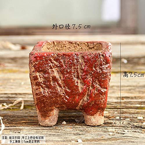 Soort vlezige vlees rijst steen bloempot creatieve sappige plant trompet oude dorp pot keramische schattige burst klei aardewerk 785