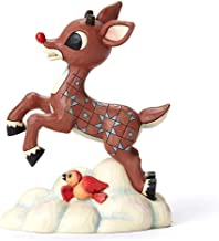 santa and rudolph flying