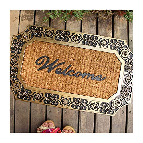 Paillasson Paillasson Bienvenue Paillasson 75 X 45 cm Noix de Coco Caoutchouc