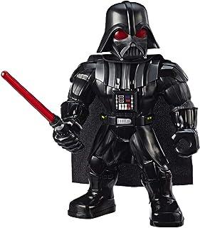 Star Wars Galactic Heroes Mega Mighties Darth Vader-actiefiguur van 25 cm met lichtzwaardaccessoire, speelgoed voor kinder...