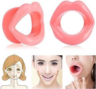 表情筋トレーニング器 - Delaman フェイススリマー、小顔 マウスピース、シリコーン、携帯便利、機能性、男女兼用、ピンク
