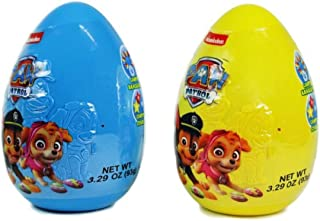 Blue and Yellow Paw Patrol Jumbo Easter Eggs with Candy, Pack of 2