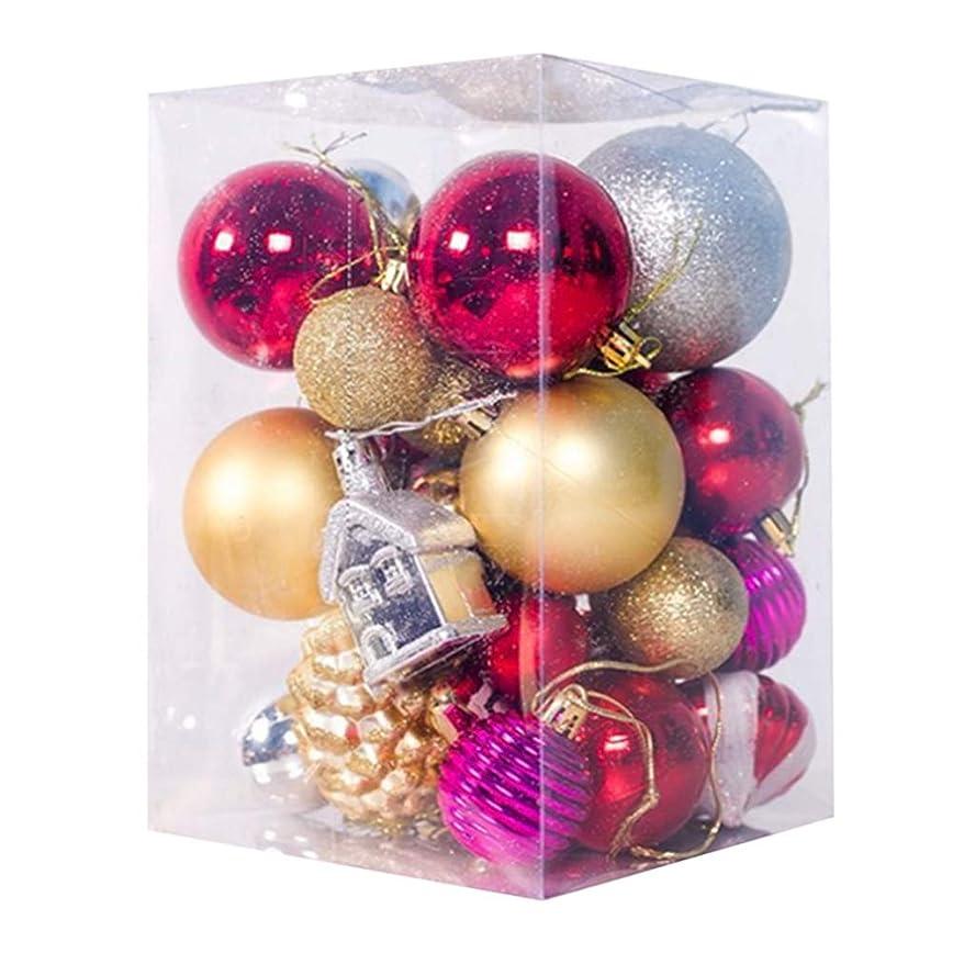高尚なヘアスラム街Feglin-joy クリスマス オーナメント PVC 不規則 32個入り ボール デコレーション エレガント シック 上品 クリスマス ツリー 飾り付け 飾り 雑貨 装飾 豪華 おしゃれ ゴージャス ギフトボックスパック