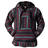 Authentic Mexican Baja Hoodie - Woven Pullover Sweater...