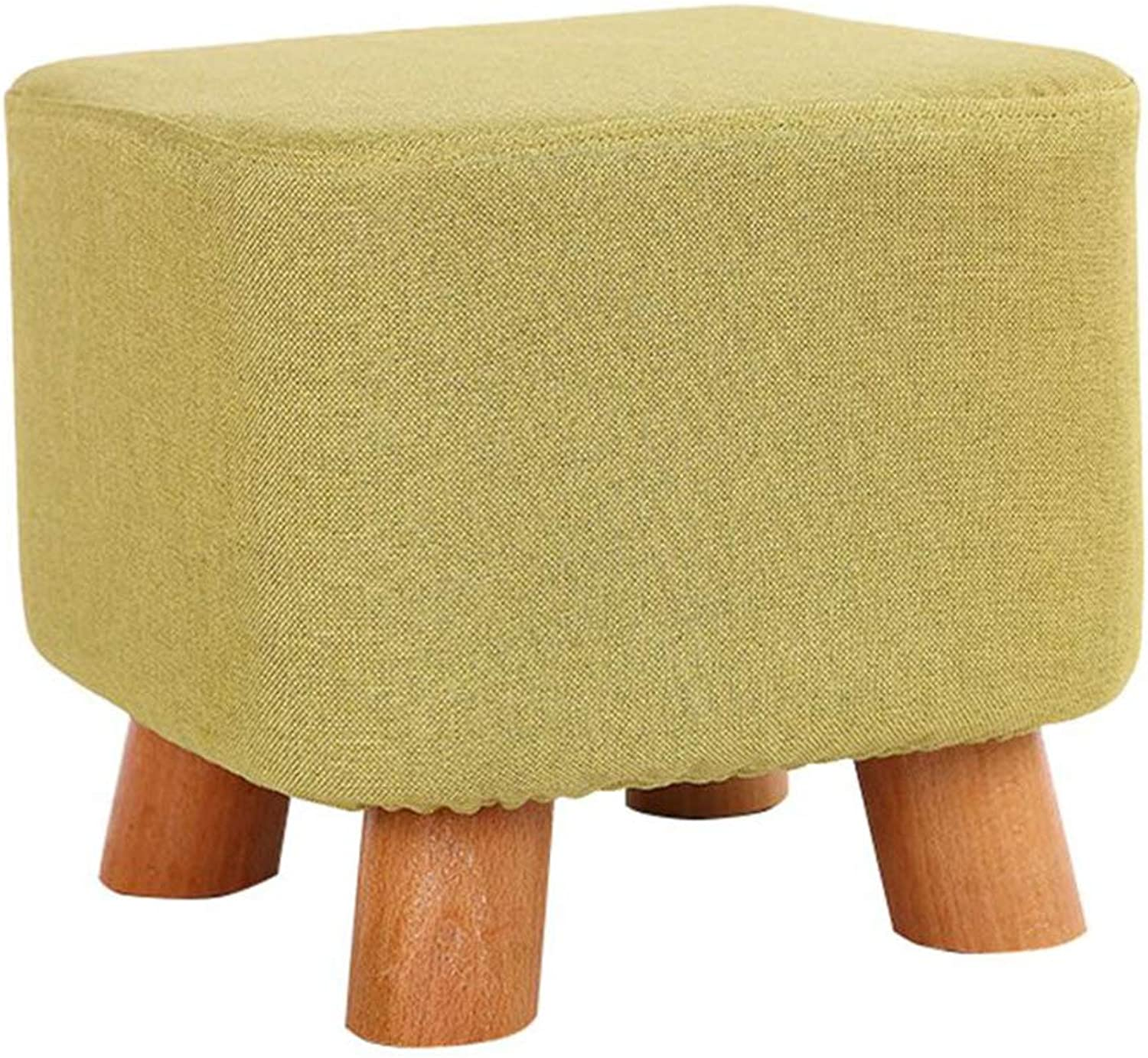 Stool - Sofa stool, Household Solid Wood Coffee Table stool, Fabric Small Bench stool, Cotton Cloth