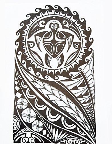Uomini Tribal Tattoo Nero hb857Braccio adesivi tatuaggio Maori e motivo tribale