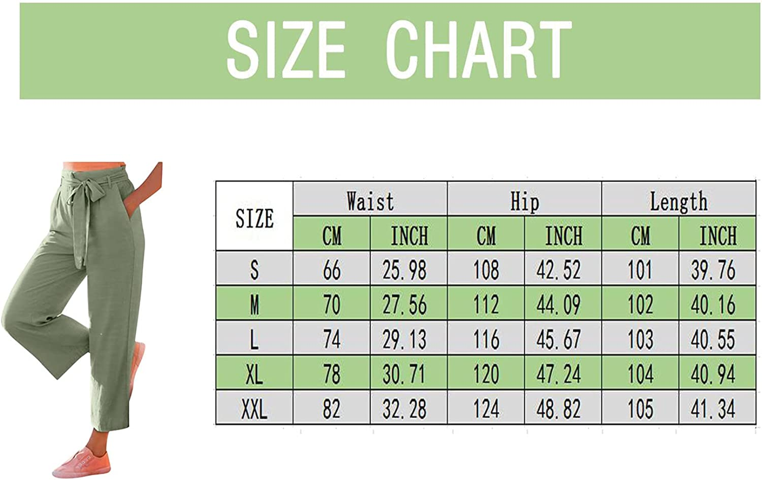 HUOJING Wide-Leg Pants for Women High Waist Casual Straight Trousers Solid Color Strap Tie Elegant Long Pant