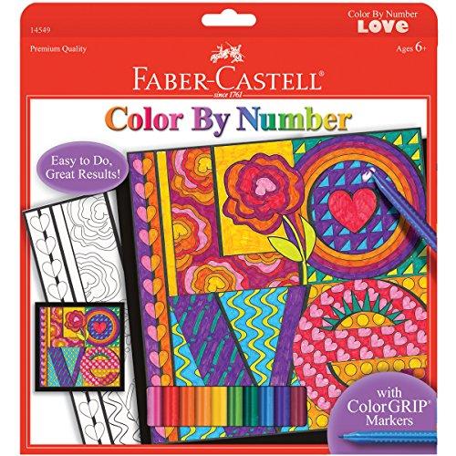 Faber-Castell - Color By Number Love Art Kit - Premium Kids Crafts